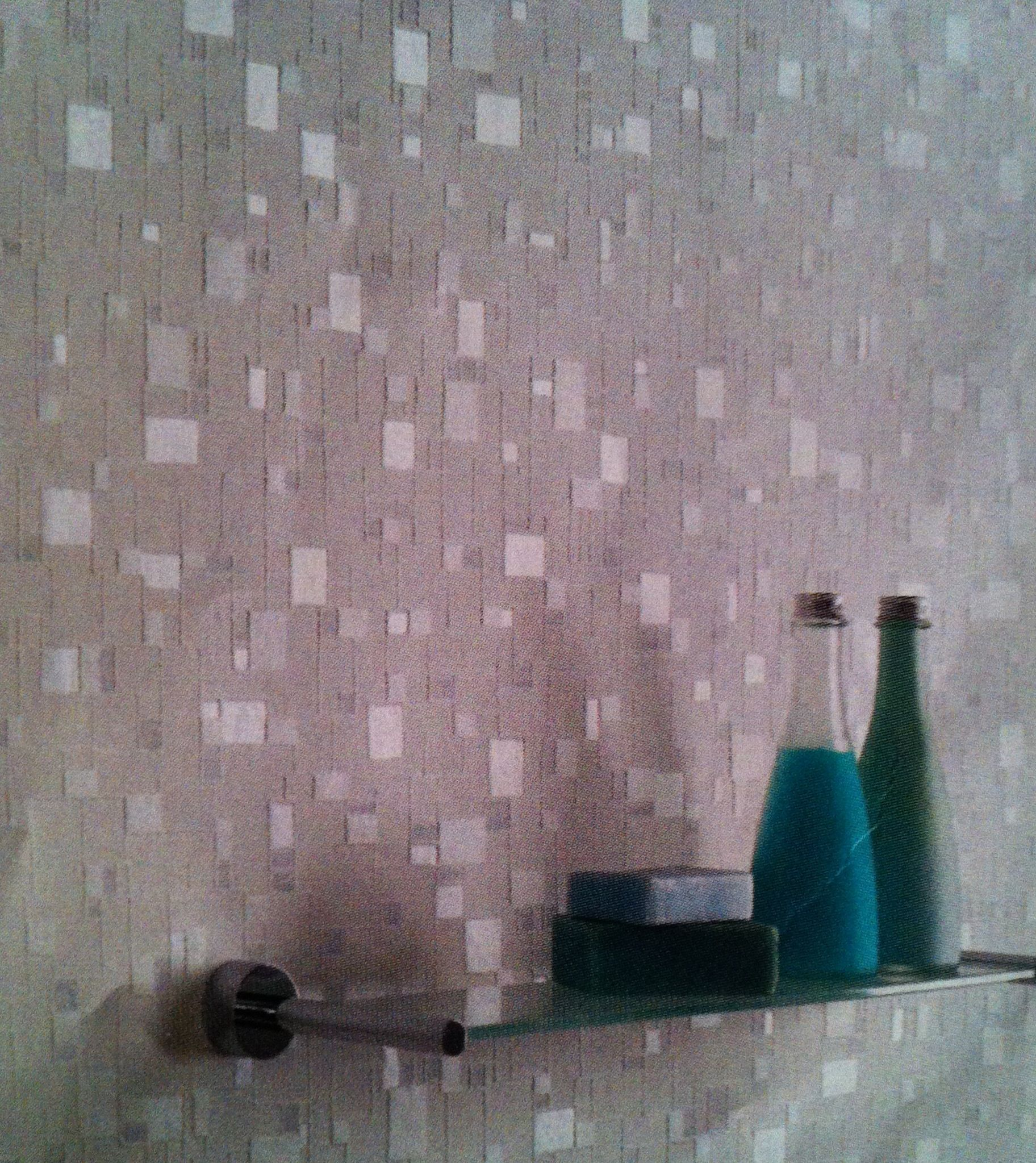 Faux Glass Tile Teal Gray Peel And Stick Wallcoverings Teal Gray Backsplash 15 Sq Ft Ca Contemporary Wallp Glass Mosaic Tiles Glass Tile Wall Coverings