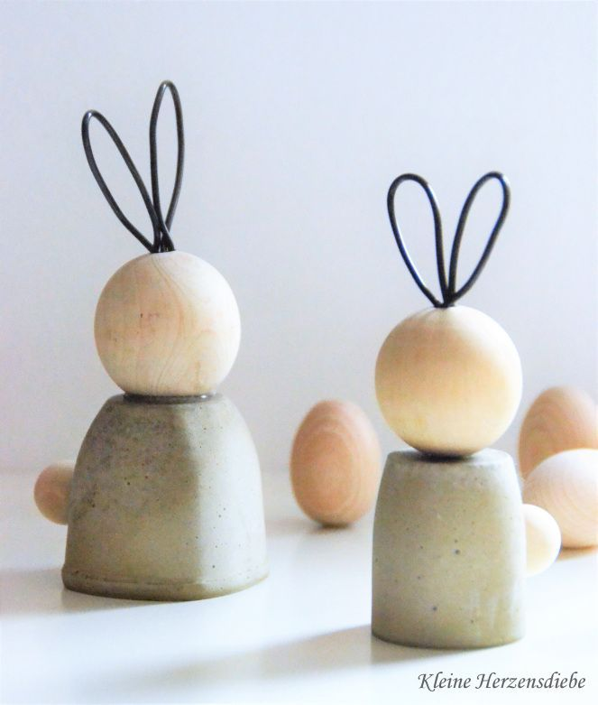Photo of Concrete rabbits for Easter