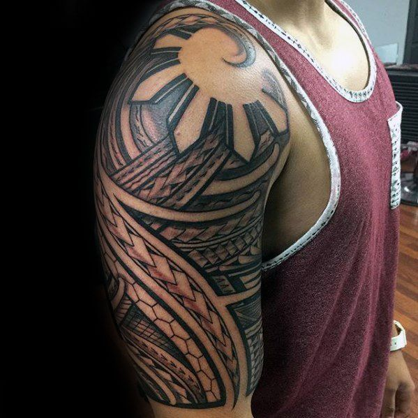 70 filipino tribal tattoo designs for men sacred ink ideas rh pinterest ca Filipino American Flag filipino flag tattoos designs