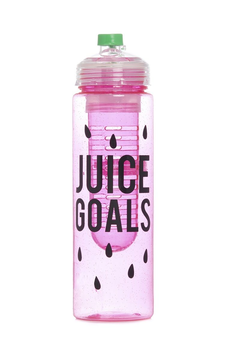 Juice Goals Infuser Sports Bottle in 2019 Pink water