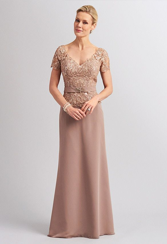 Classic mother of the bride dresses like this have more of a ...