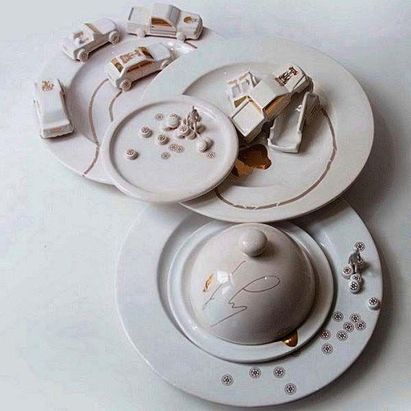 Modern Tableware Art from Judith Montens Creative Green and White Dinnerware Sets & Modern Tableware Art from Judith Montens Creative Green and White ...