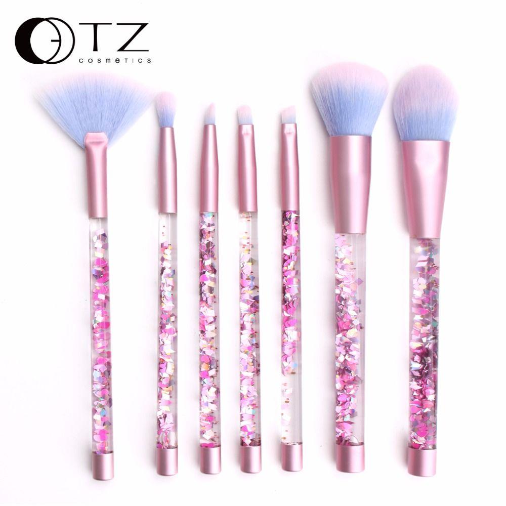 Aquariumb Liquid Glitter Makeup Brush Set Highlighter Brushes