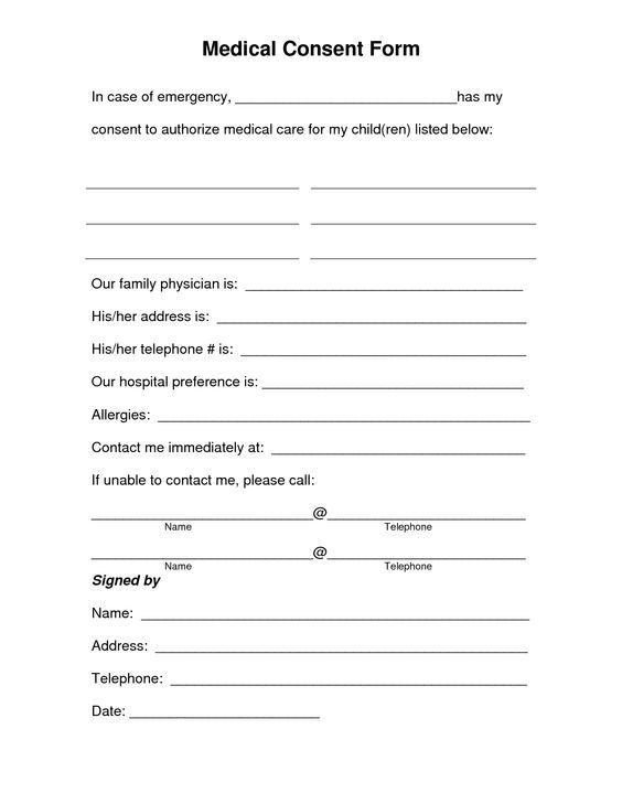 Free Consent letter for children travelling abroad Places to - child medical consent form