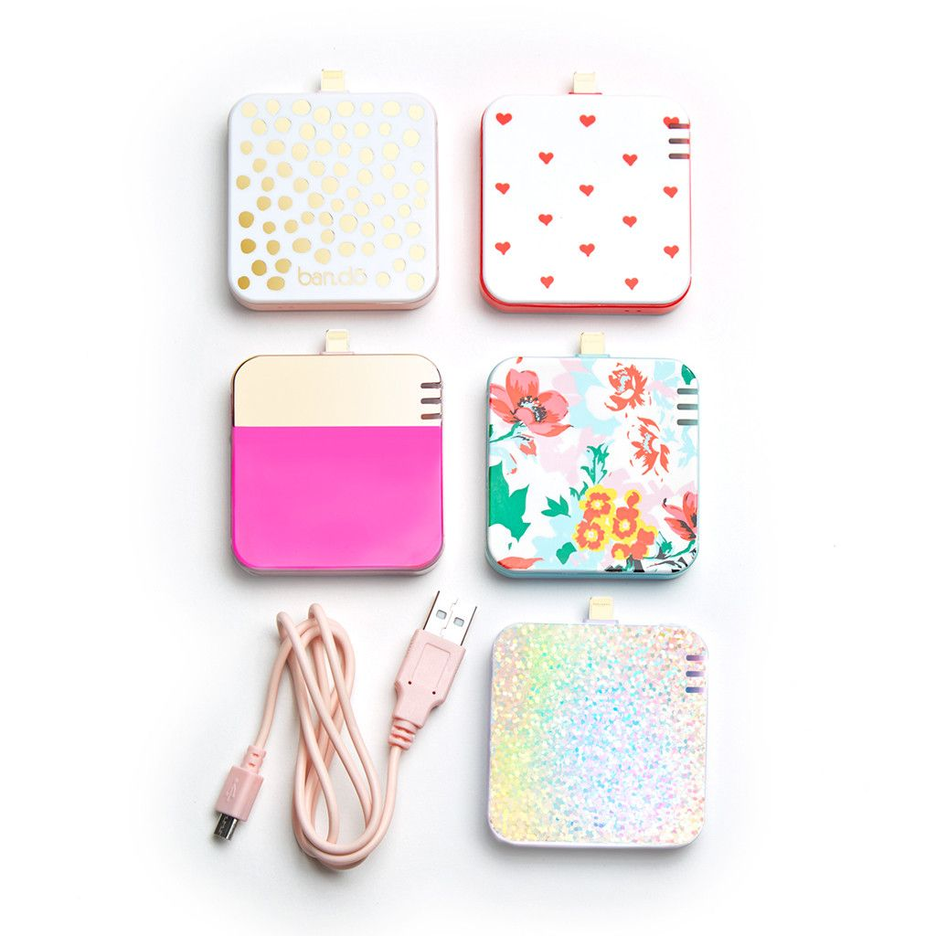 back me up! mobile charger florabunda Cute portable