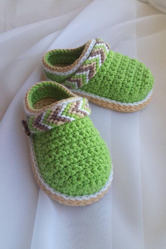 CROCHET PATTERN Baby Shoes Crochet Booties Baby Clogs | Häkeln ...