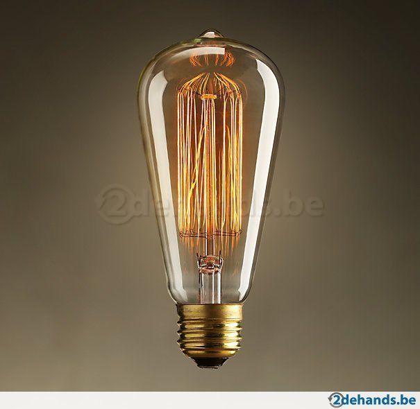 Vintage Gloeilamp Kooldraad 40watt E27 Gold Shine Design Te Koop Touw Lamp Gloeilampen Industriele Lamp