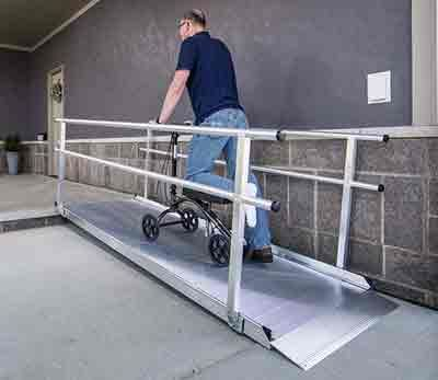 Best Gateway 3G Wheelchair Ramps With Handrails Portable 400 x 300