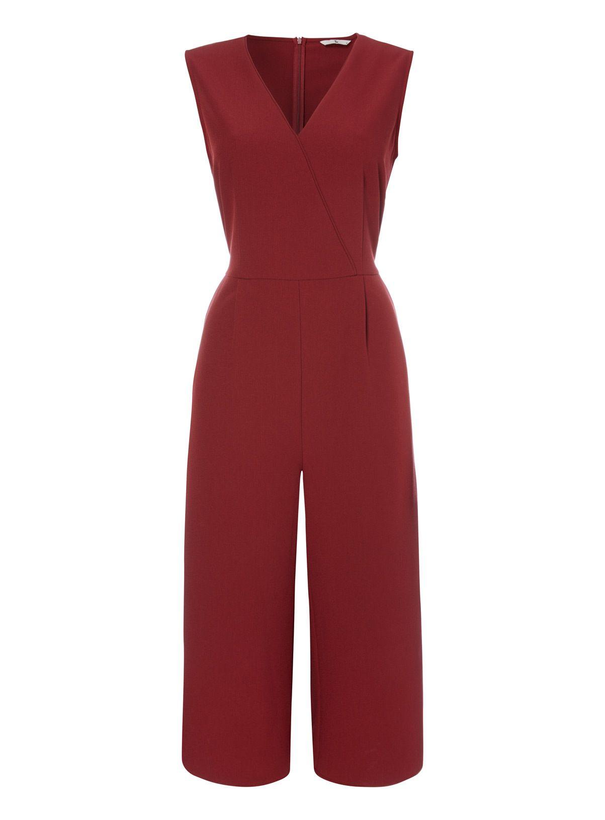 2d4d37e1379 Dark Red Culotte Jumpsuit in 2019