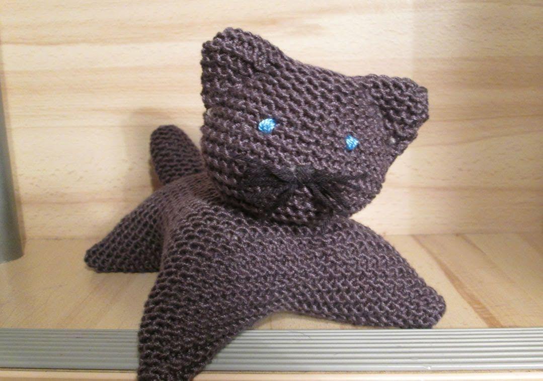 tuto tricot apprendre a tricoter un chat tres facile easy cat kn fabriquer des. Black Bedroom Furniture Sets. Home Design Ideas