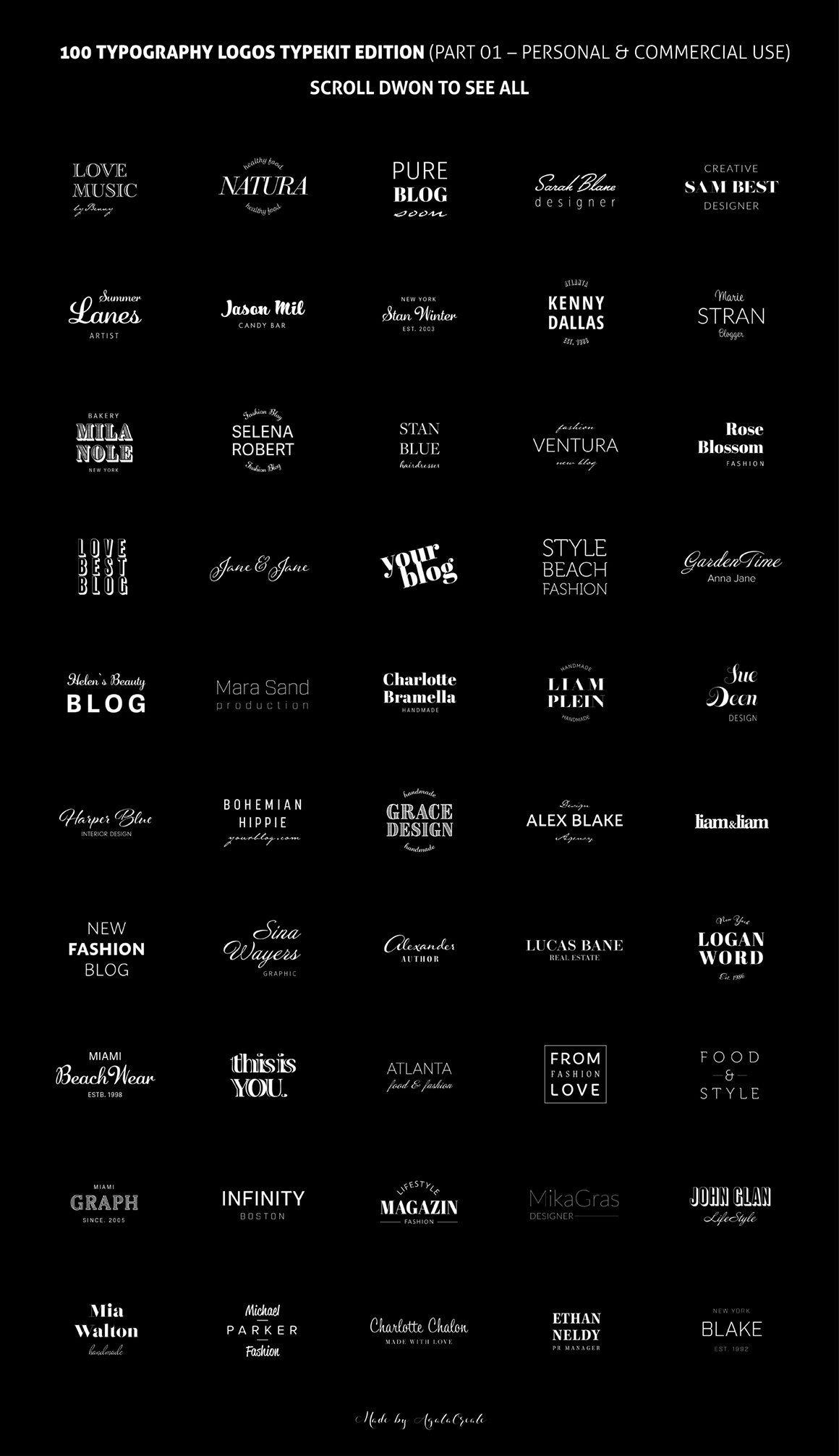100 Typography Logos Typekit Edition in 2020 Typography