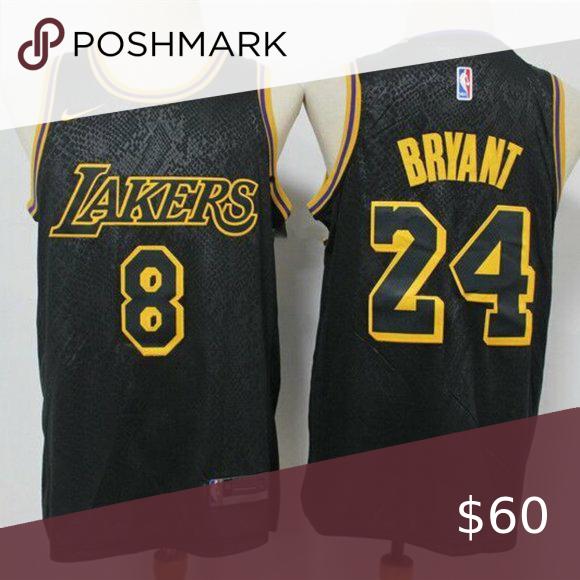 Los Angeles Lakers 8 24 Kobe Bryant Black Jersey In 2020 Kobe Kobe Bryant Los Angeles Lakers