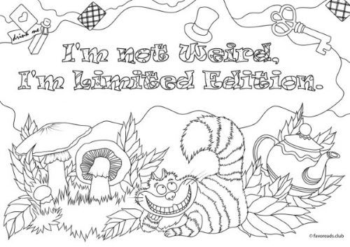 Alice In Wonderland Quotes Coloring Pages - Coloring And Drawing