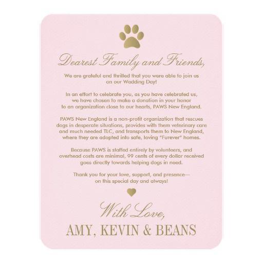 Animal Rescue Donation Card Paw Print Design