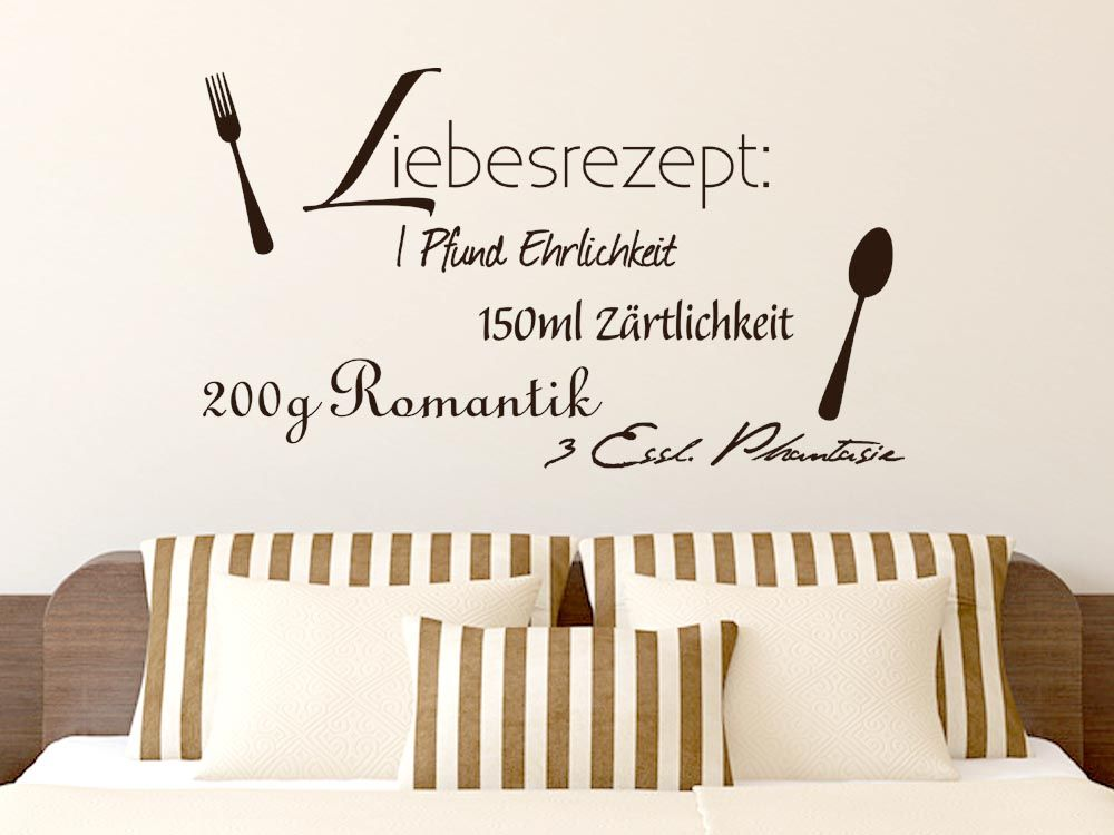 Wandtattoo Liebesrezept für die Küche | Küchen online kaufen, Küchen ...