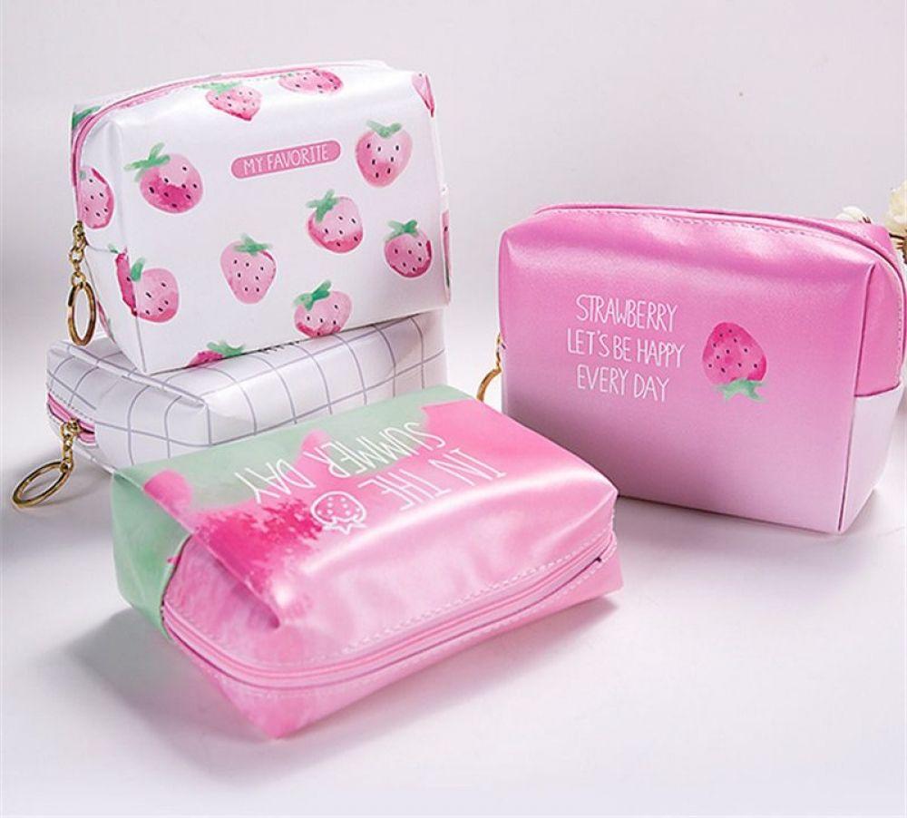 Pink Fruit Travel Makeup Bags Cute Makeup Bags Makeup Bags