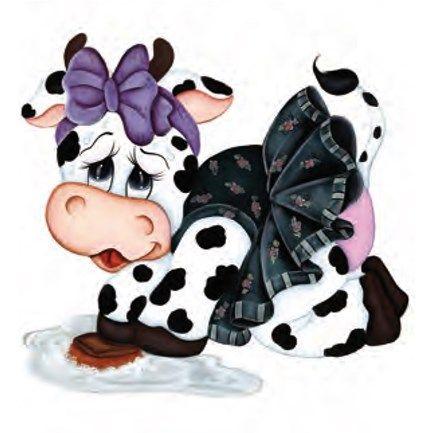 Pin Em Decoupage Cows