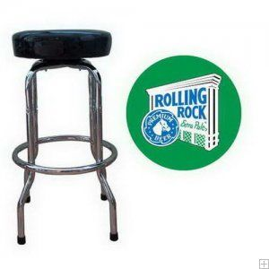 Rolling Rock Bar Stool