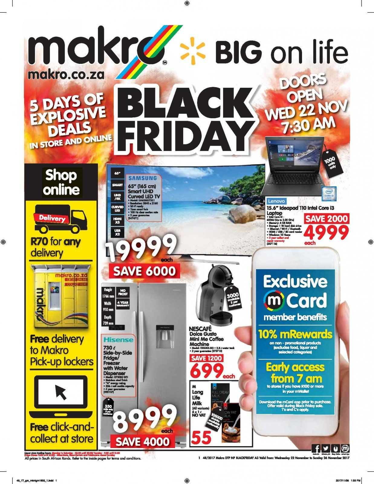 Makro Catalogue And Weekly Deals Until 26 11 16465 Allcatalogues Co Za Catalog Black Friday Black Friday Specials