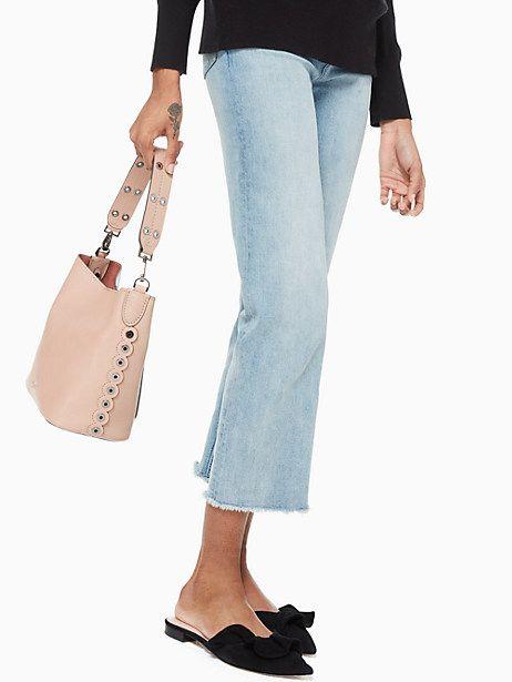 3896b27cd719d6 Kate Spade Atlantic Avenue Small Libby, Gingertea Pebbled Leather, Hobo  Bag, Handbag Accessories