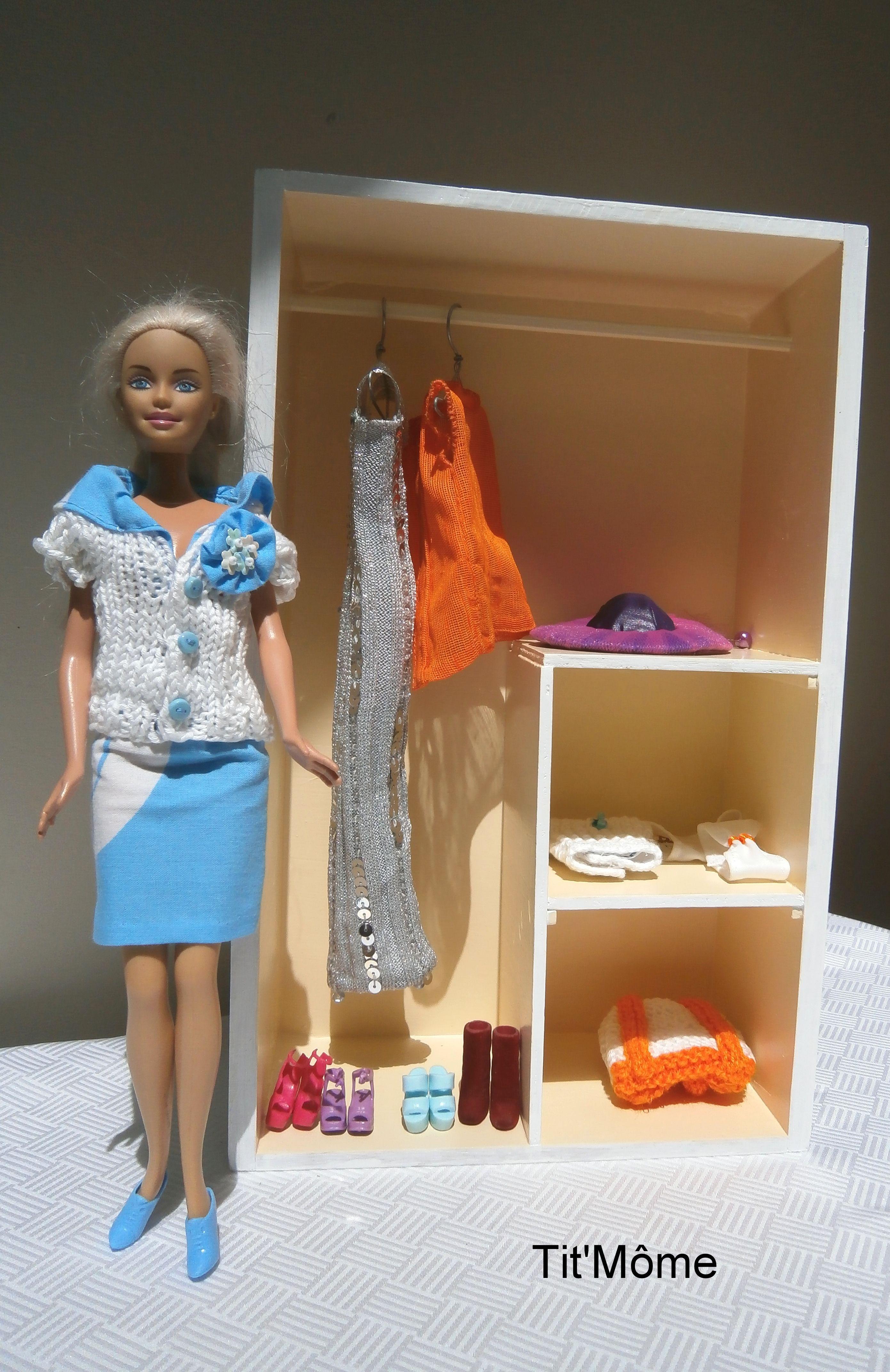 Armoire Dressing Pour Poupee Barbie Barbie Diy Dressing Barbie Meubles Barbie