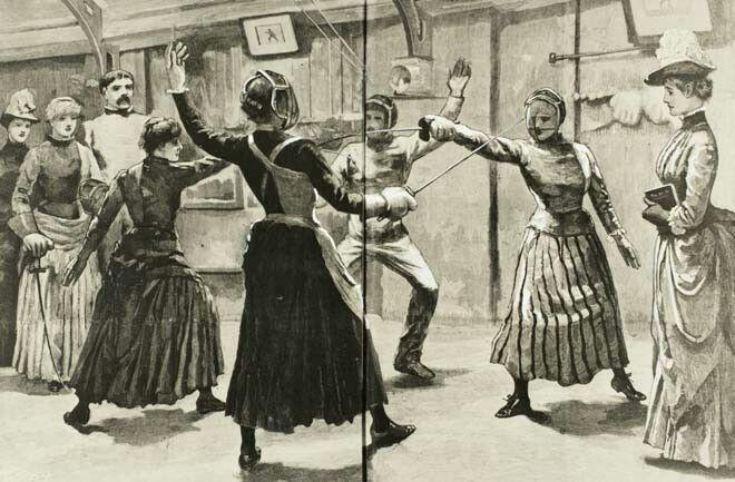 Women fencers | Bustle Era: 1880s | Women's fencing, Fencing