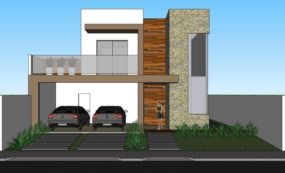 Fachadas de sobrados modernos com sacadas sobrados for Fachadas de apartamentos modernos