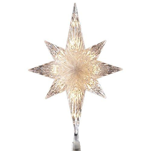 Sienna Lighted Faceted Bethlehem Star Christmas Tree Topper with Clear  Lights 11 >>> This - Sienna Lighted Faceted Bethlehem Star Christmas Tree Topper With