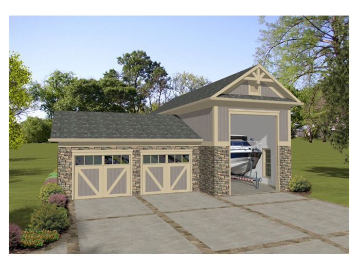 Rv garage plans motor home garages the garage plan for House plans with shop attached