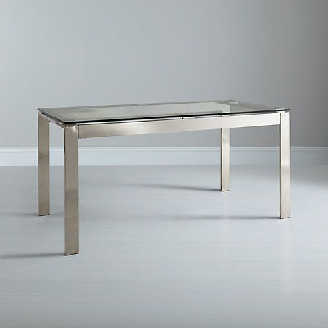 Buy John Lewis Frost 6 Seater Dining Table Glass Online At Johnlewis