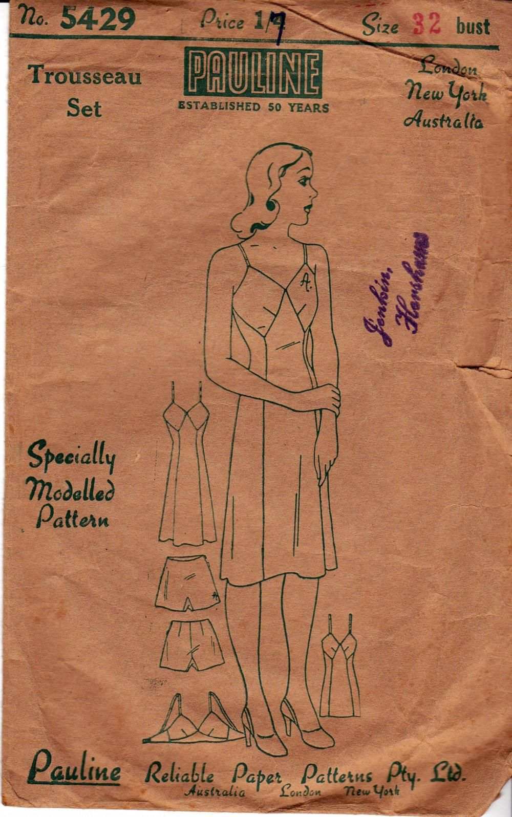 Pauline 5429 Trousseau Set: Slip, Bra, and Panties