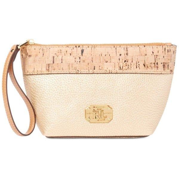 Lauren Ralph Lauren Paley Cork Cosmetic Wristlet ( 43) ❤ liked on Polyvore  featuring bags · Pink ClutchHandbag ... a18b3c925bd97