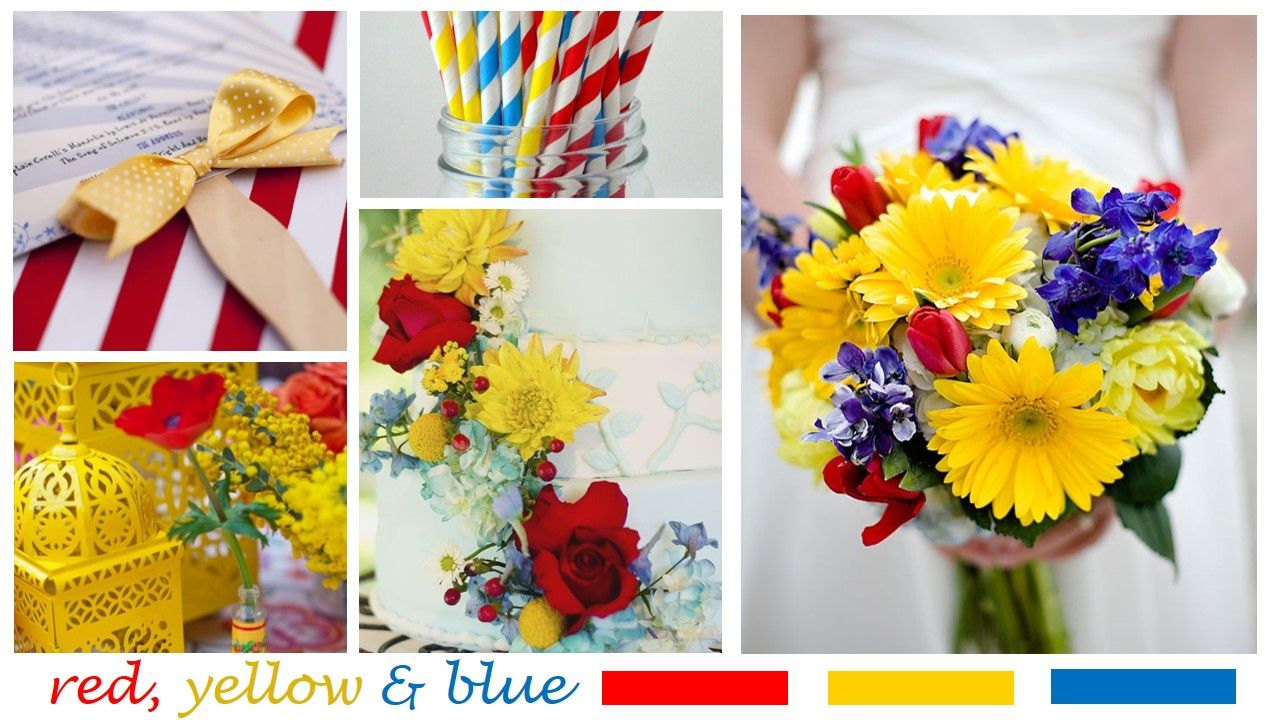 Image Result For Red Yellow And Blue Wedding Wedding Thinks