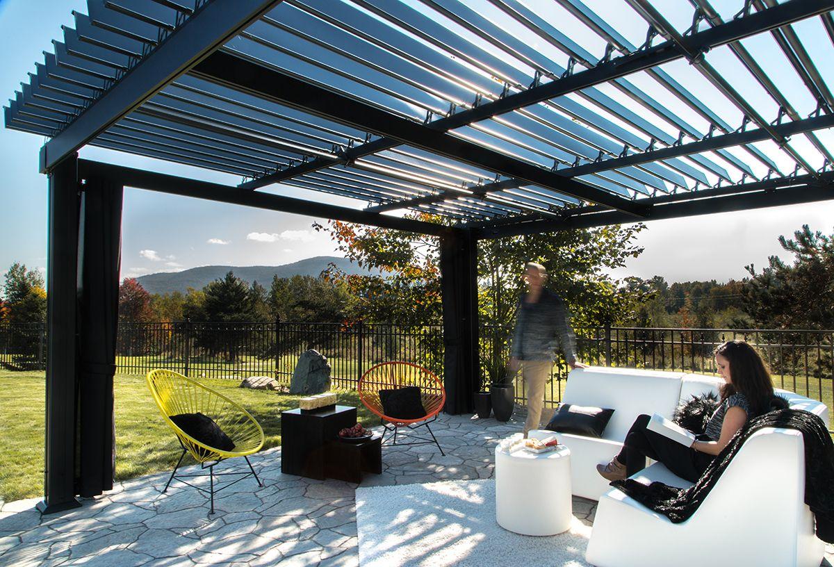 Magnificent Sunlouvre Pergolas 100 Aluminium Perfect For Those Sunny Summer Days Offering Complete Control Over S Pergola Bioclimatique Bioclimatique Pergola
