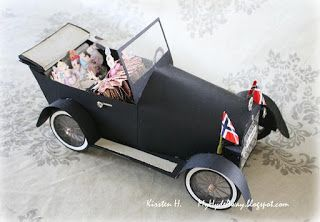 my craft and garden tales template for a paper vintage car 3 d