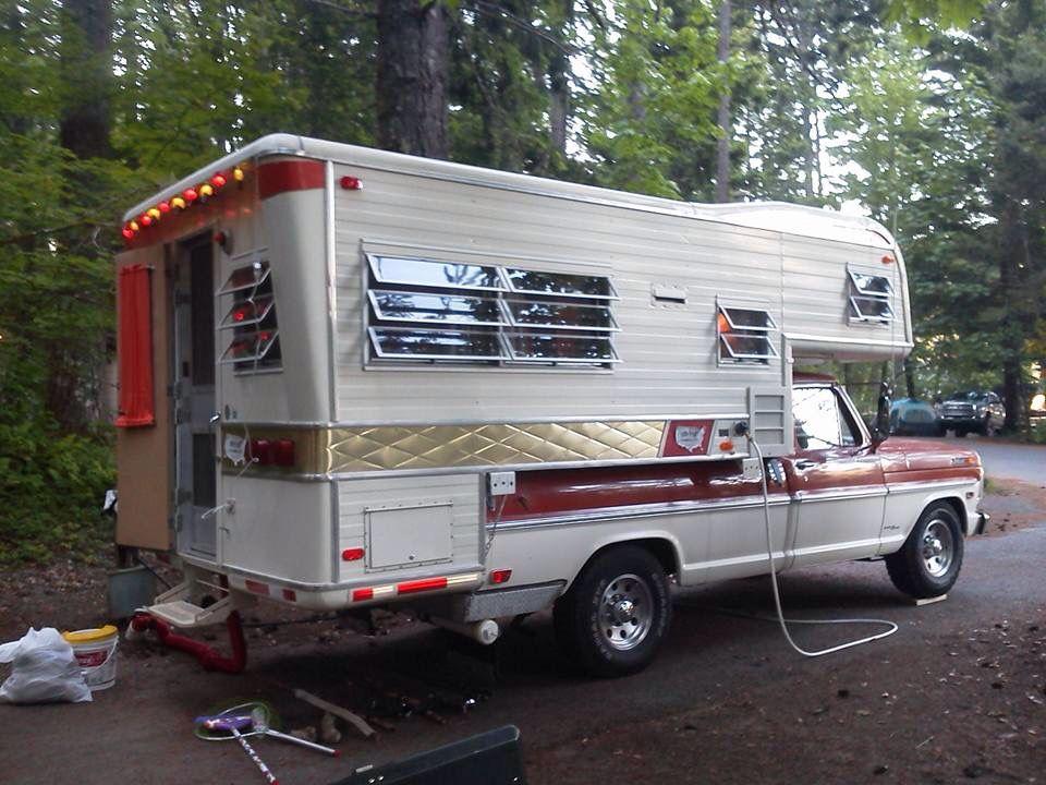68 Holiday Rambler Camper Pickup Camper Truck Bed