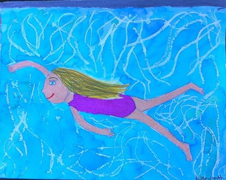 Cute idea for back to school or beginning of summer swimming pool pictures kids draw How to draw swimming pool water