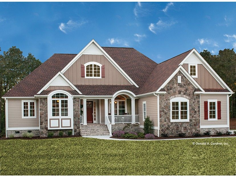 ePlans Country House Plan u2013 Striking Curb