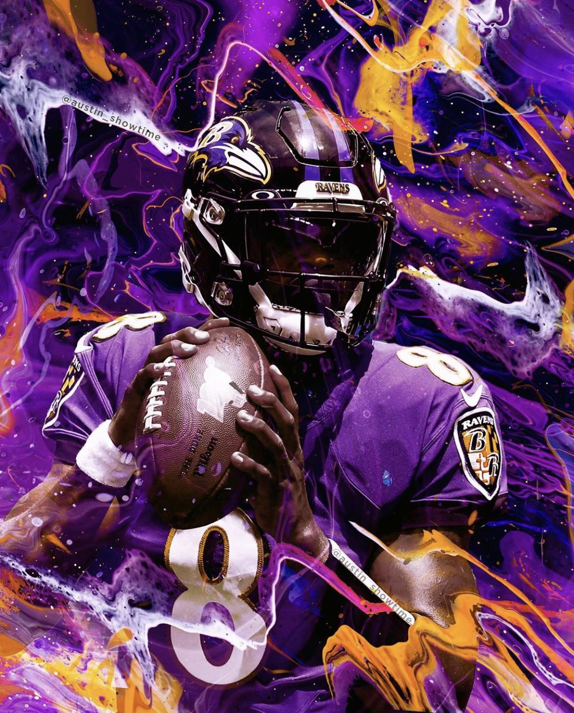 Lamar Jackson Mvp Ravens Football Nfl Football Wallpaper Baltimore Ravens Football