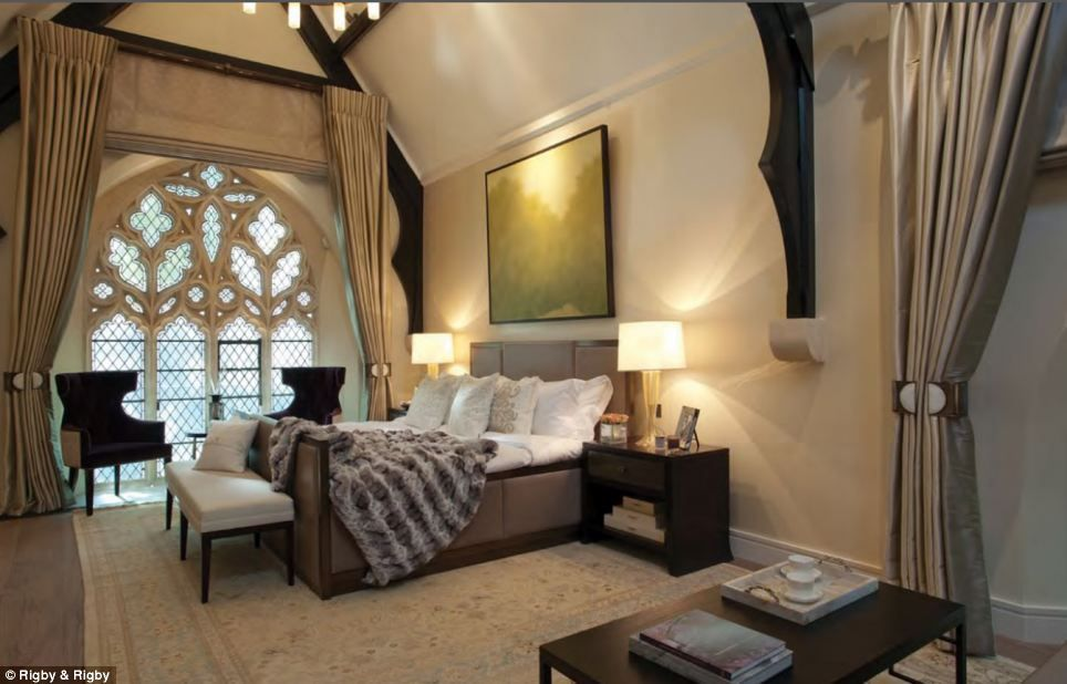 One of the seven bedrooms within the house. There are four main bedrooms and another three in total