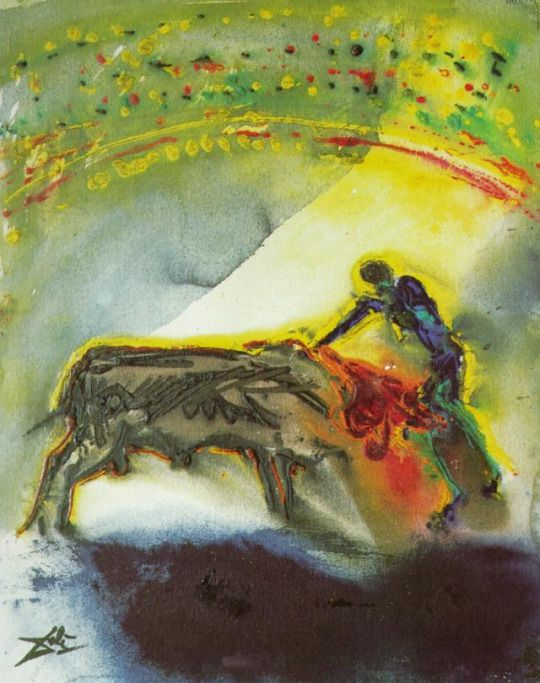 Surrealismo. Tauromachia I - El Torero, el Kill (tercera y última ronda de la corrida) por Salvador Dali