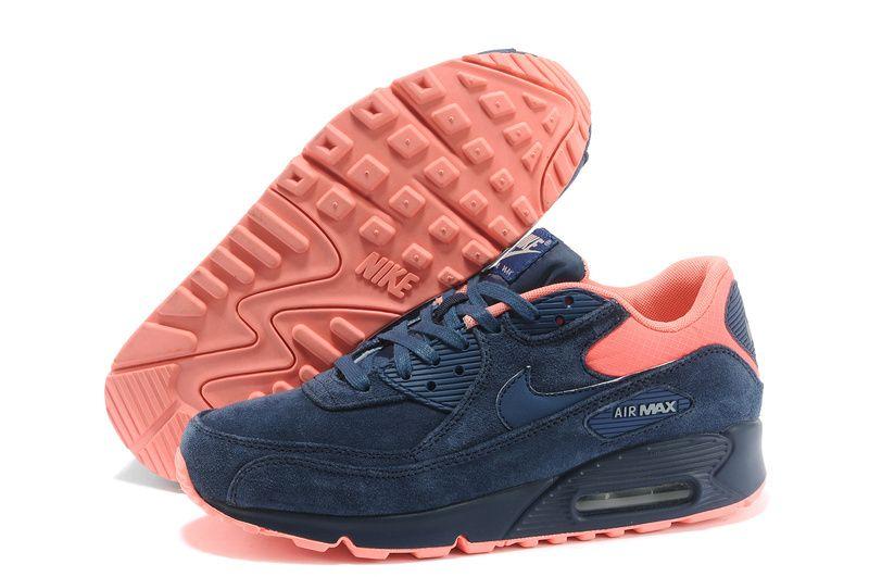 Atomic Pink Nike Air Max 90 Mens Nike Air Max 90 Premium Brave Blue Atomic Pink   Nike air max ...