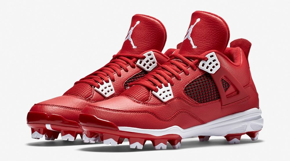 You Can Now Buy Air Jordan 4 Baseball Cleats Air Jordans Jordan Cleats Custom Football Cleats