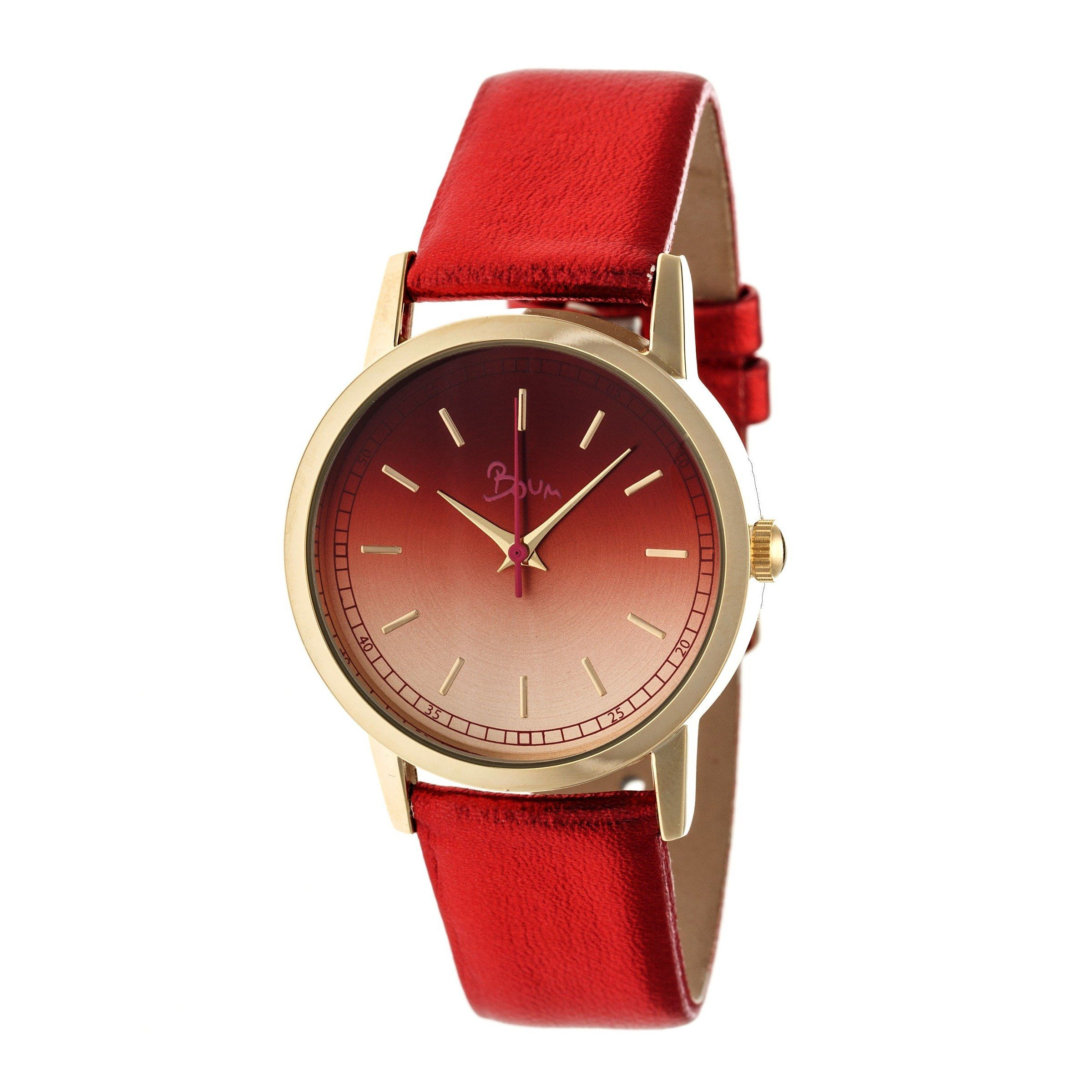red product womens multifunction leather watches watch jewelry s today shipping swiss akribos women xxiv overstock quartz bracelet free