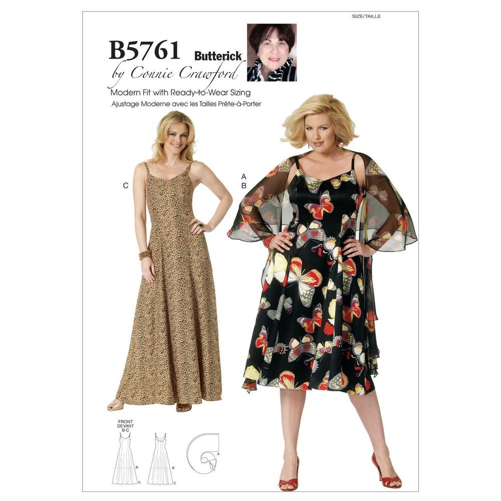 Butterick 5761 connie crawford dress straps wrap sewing pattern butterick 5761 connie crawford dress straps wrap sewing pattern plus size b5761 jeuxipadfo Choice Image