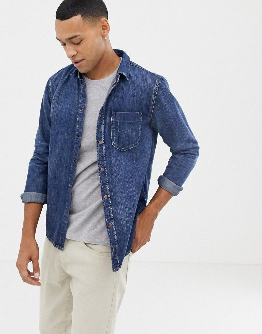 0b50128637 NUDIE JEANS CO HENRY DENIM BUTTON DOWN SHIRT - BLUE.  nudiejeans  cloth