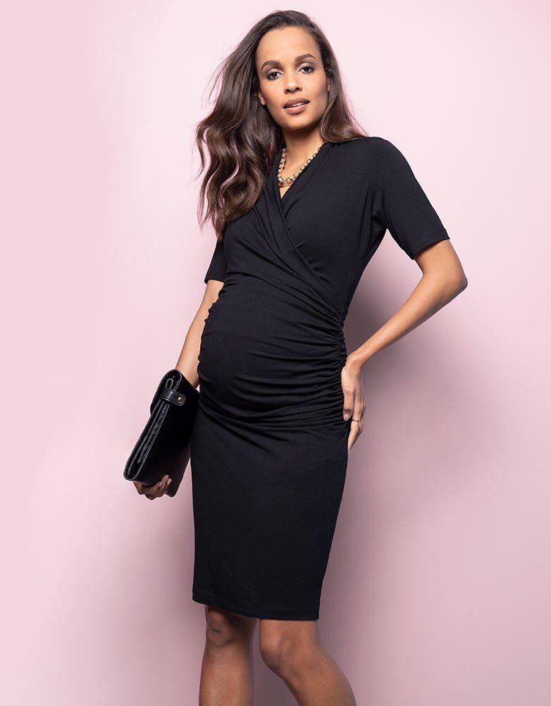 4e662ebdea4388 Envie De Fraise Audrey Jerseykleid Black - women's unifarben audrey  jerseykleid black kleider - 464721708   Sukienki ciążowe Maternity dresses    Maternity ...