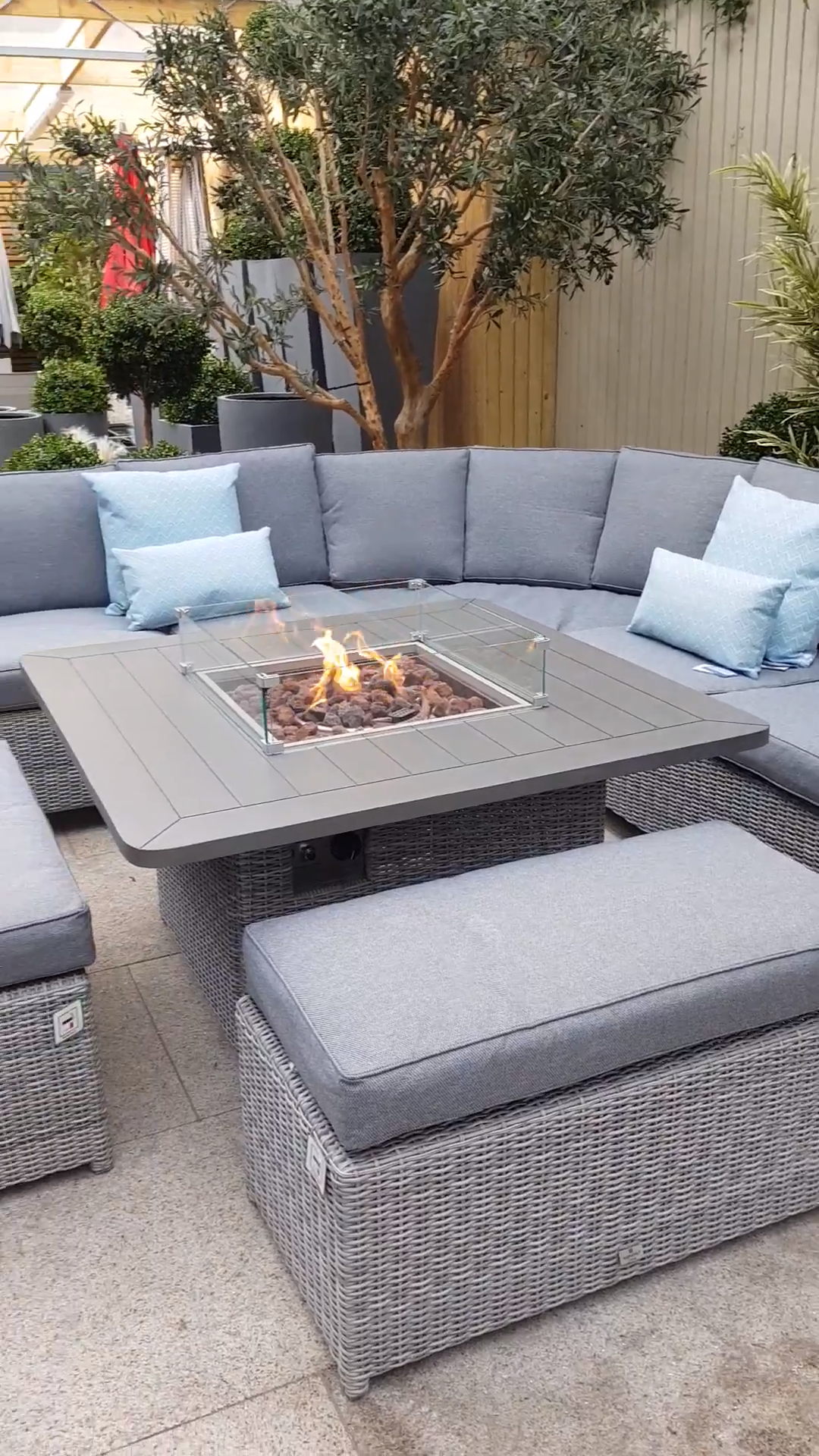 Photo of Garden furniture with fire pit