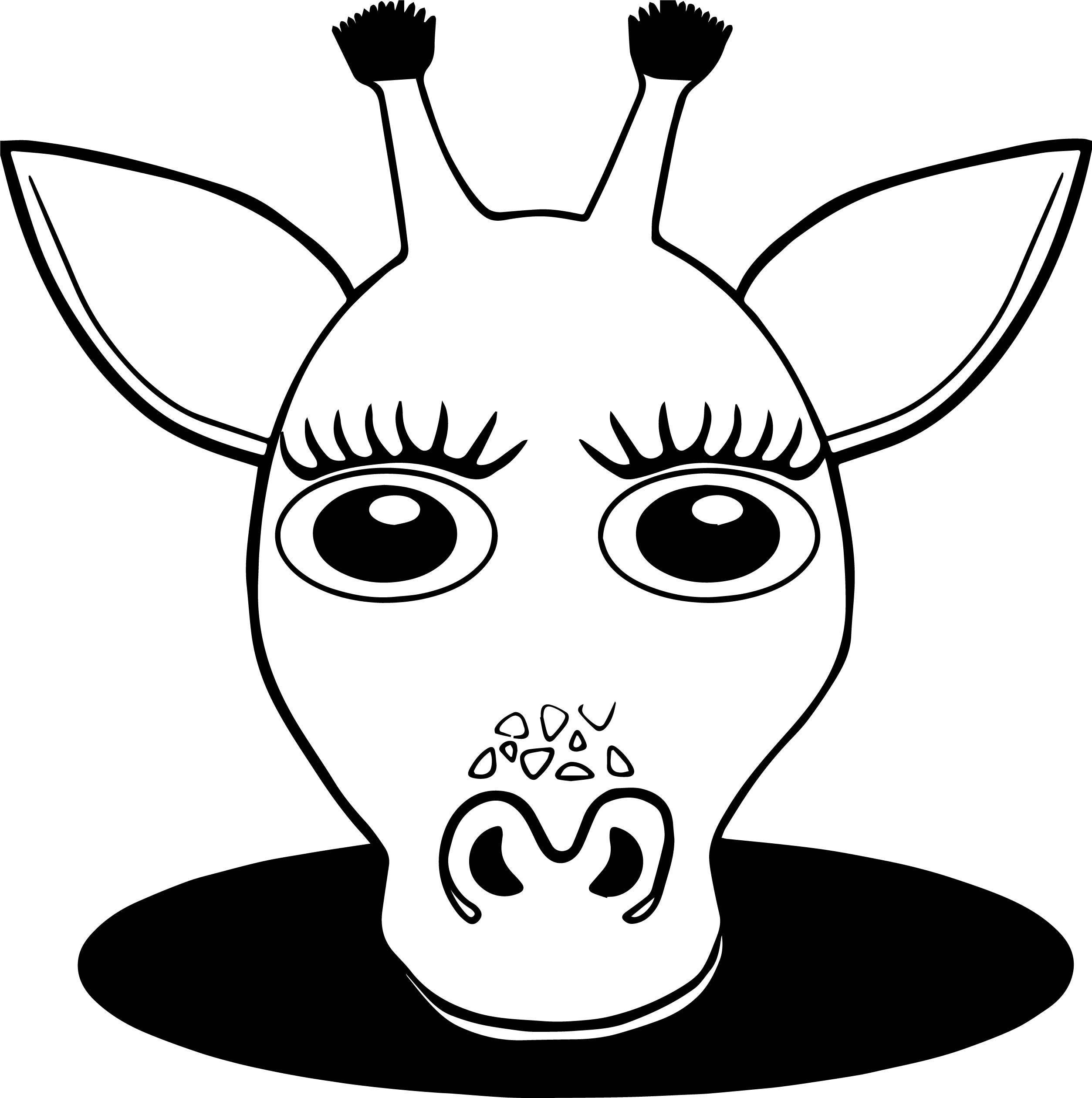 Nice Girl Giraffe Face Coloring Page Coloring Pages Coloring