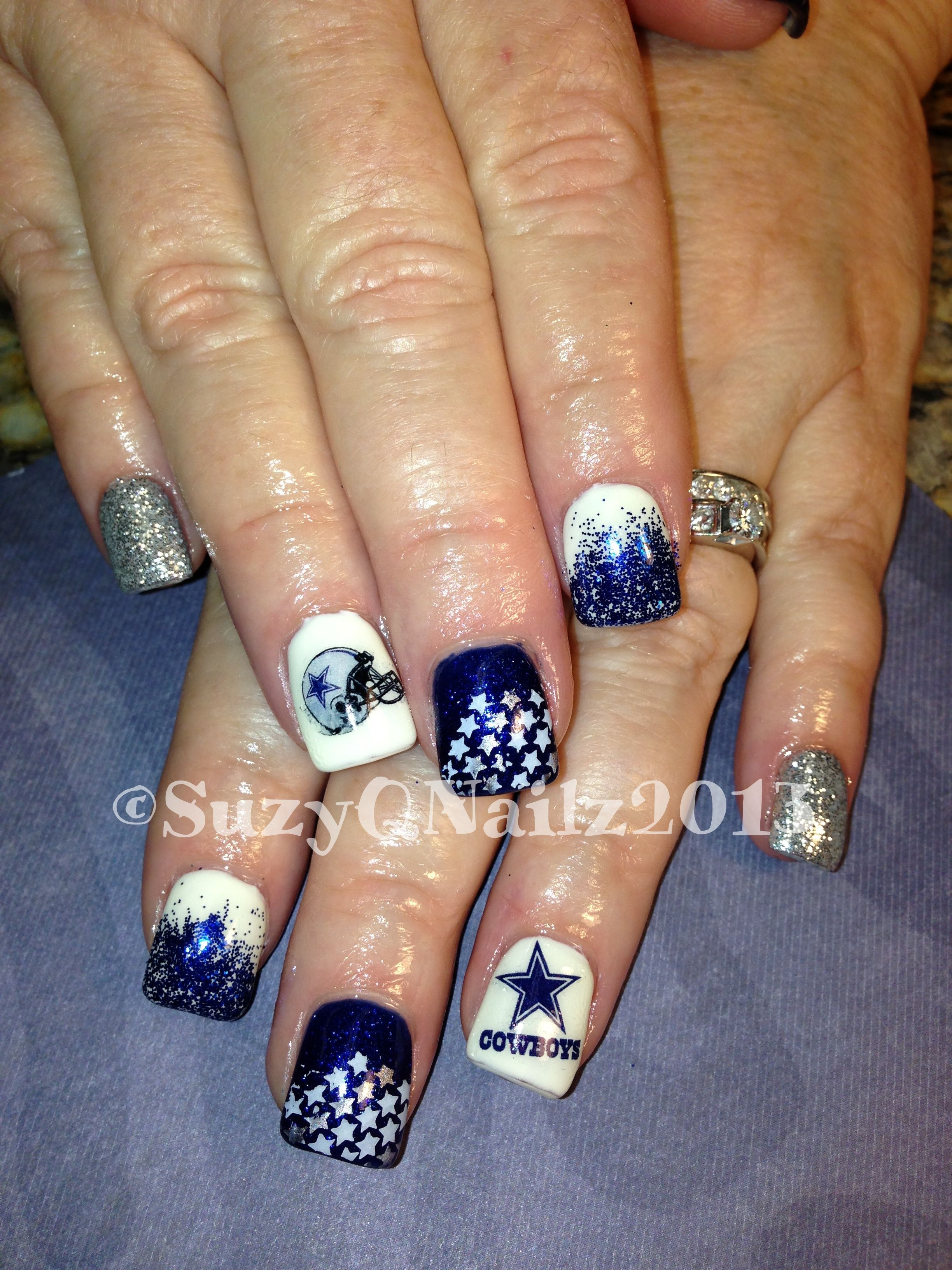 Dallas Cowboys Nails | SuzyQ Nailz | Pinterest | Dallas cowboys ...